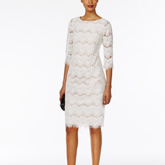 Nwt Jessica Howard White Lace Dress Nwt